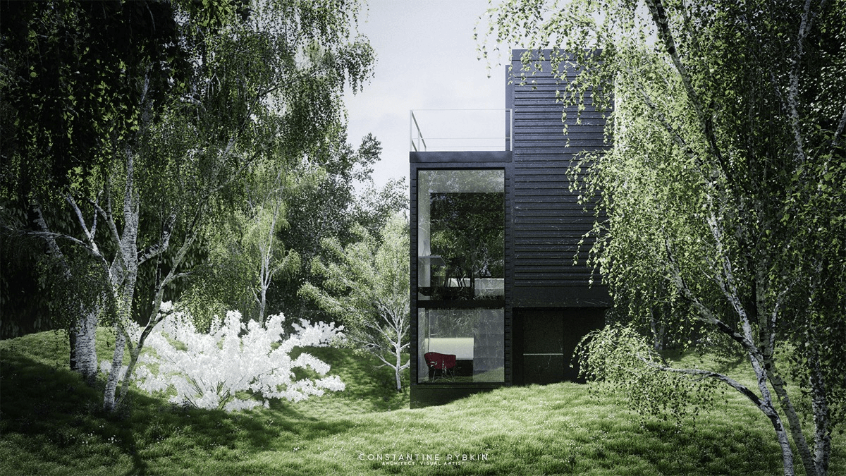 Foresty Exterior Design Ideas For modern small house