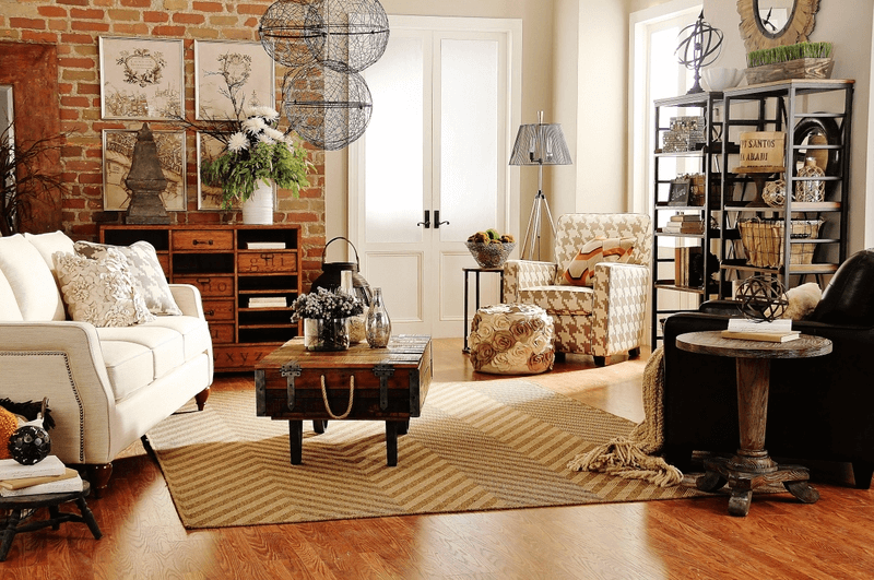 Industrial style small ranch living room decor ideas