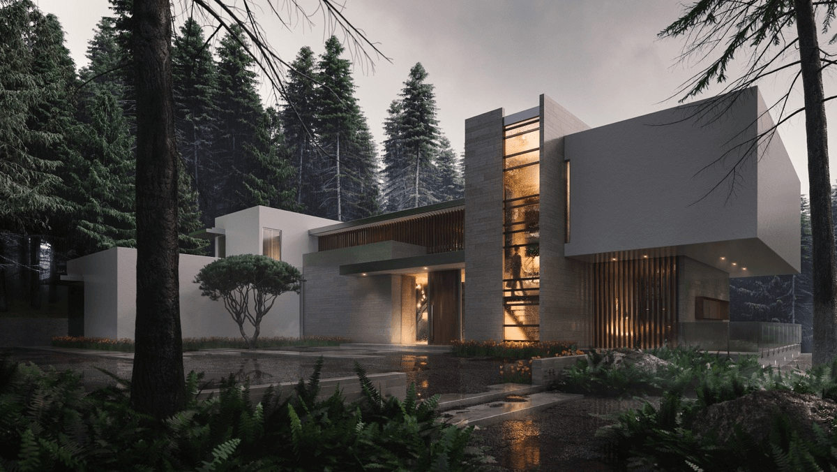 Sophisticated and Sexy Exterior Design