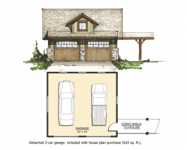 small rustic house plan with 2 car garage included house plan purchase