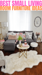 BEST SMALL LIVING ROOM FURNITURE IDEAS
