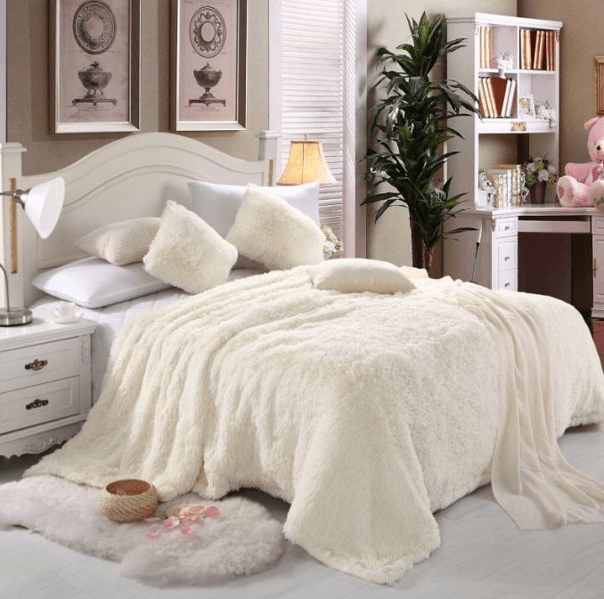 Cashmere blanket luxury products for romantic bedroom decorating ideas