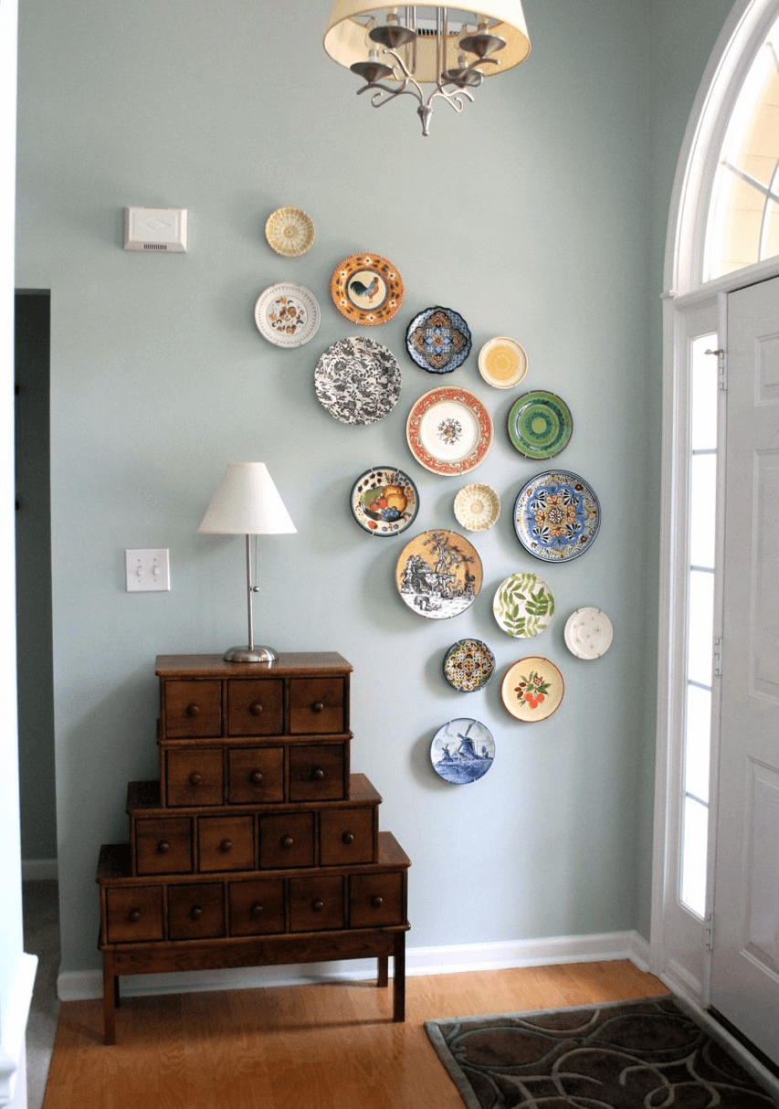 DIY wall plate display decoration ideas