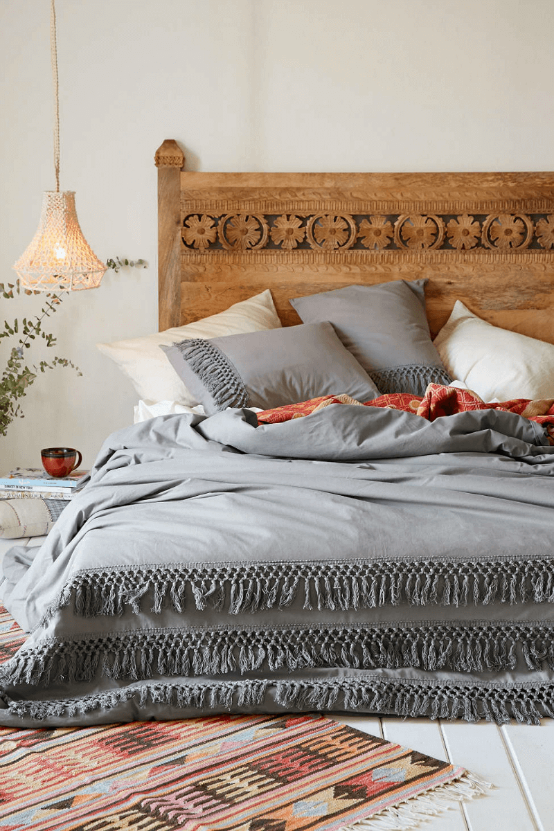 Gray boho bedroom paint colors