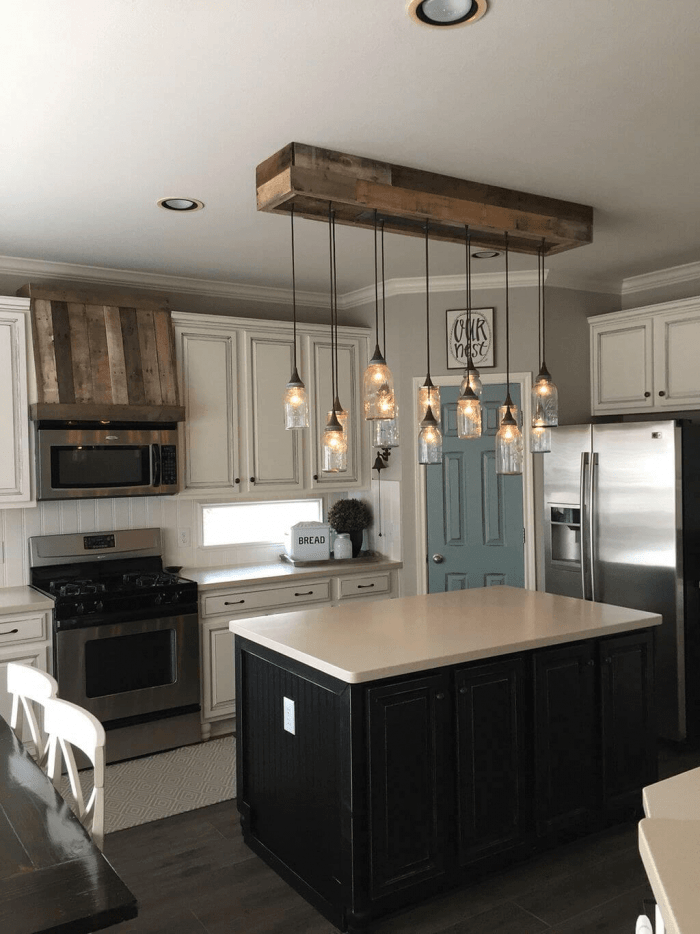 Kitchen track lighting ideas farmhouse