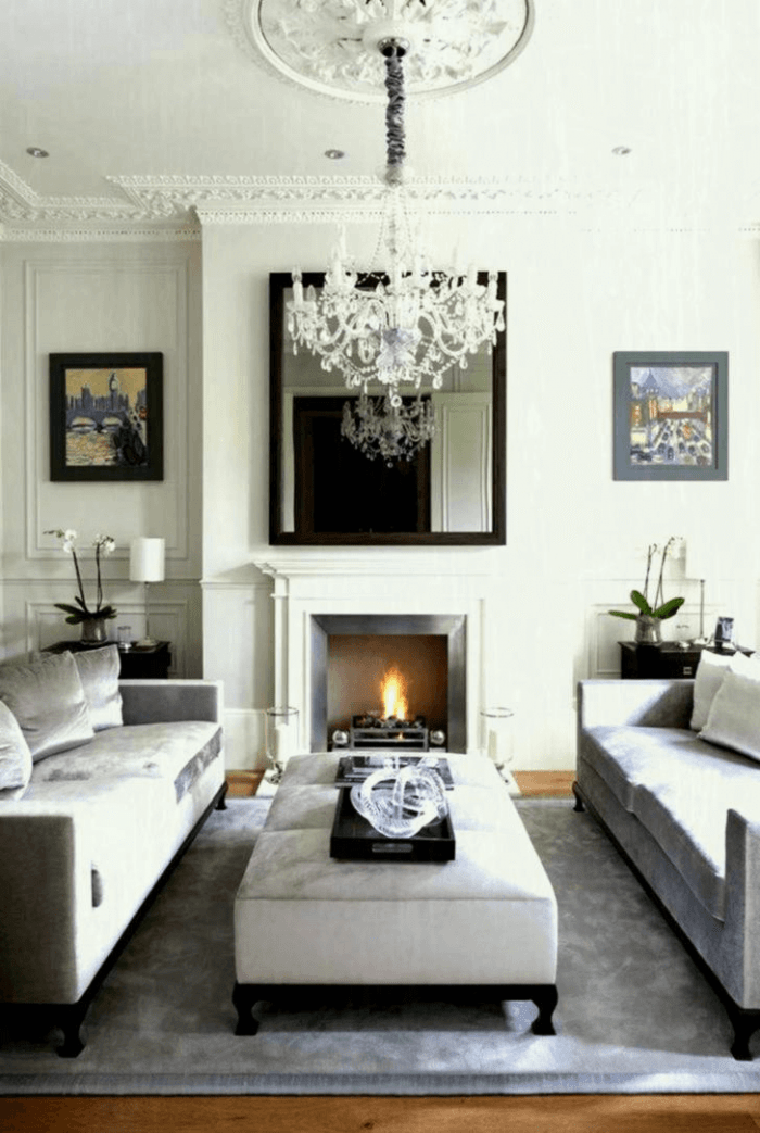 Lighting ideas for small spaces living room with fireplace