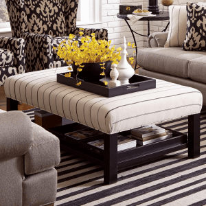 Ottoman coffee table living room small space