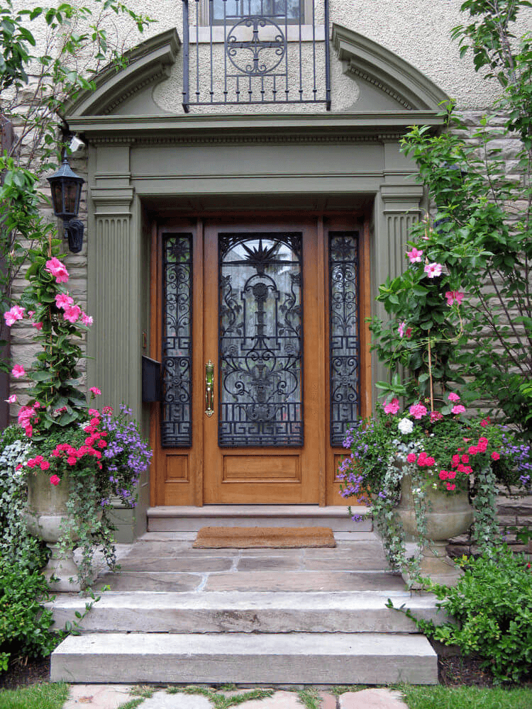 Porch plants potted front doors for small house design ideas