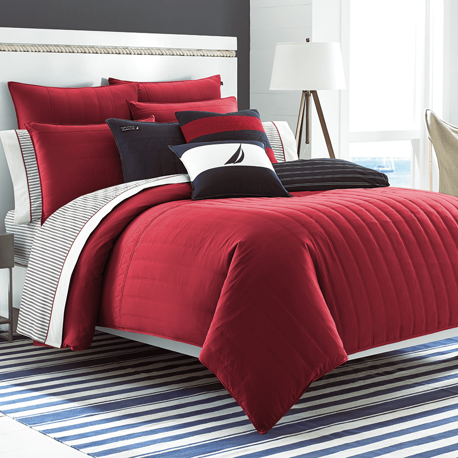 Red velvet bedroom decorating ideas