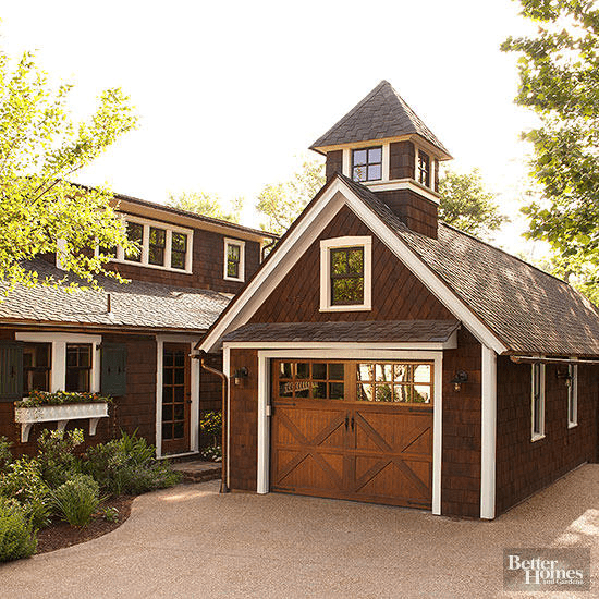 Refined and Rustic Detached Garage Design Ideas