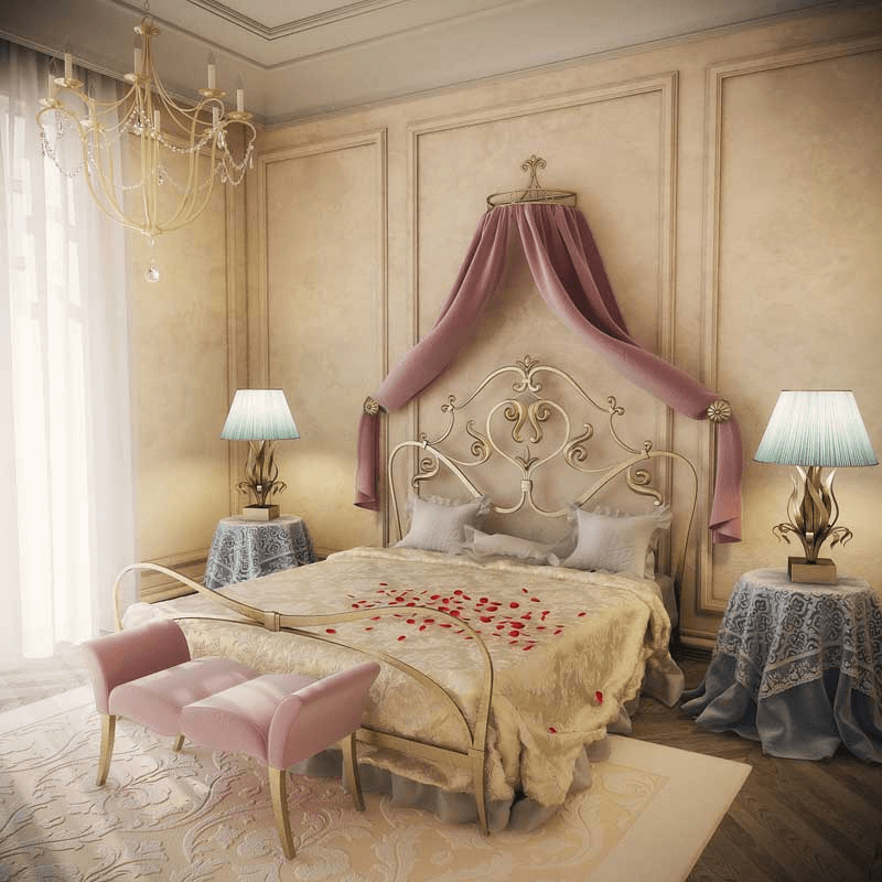 Romantic small master bedroom cozy elegant