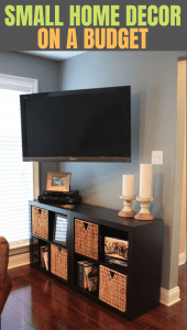 SMALL HOME DECOR ON A BUDGET