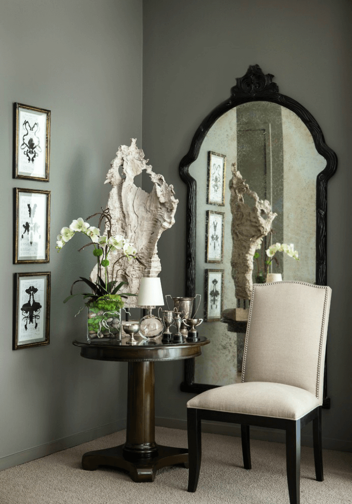 Wall mirror decor living room ideas