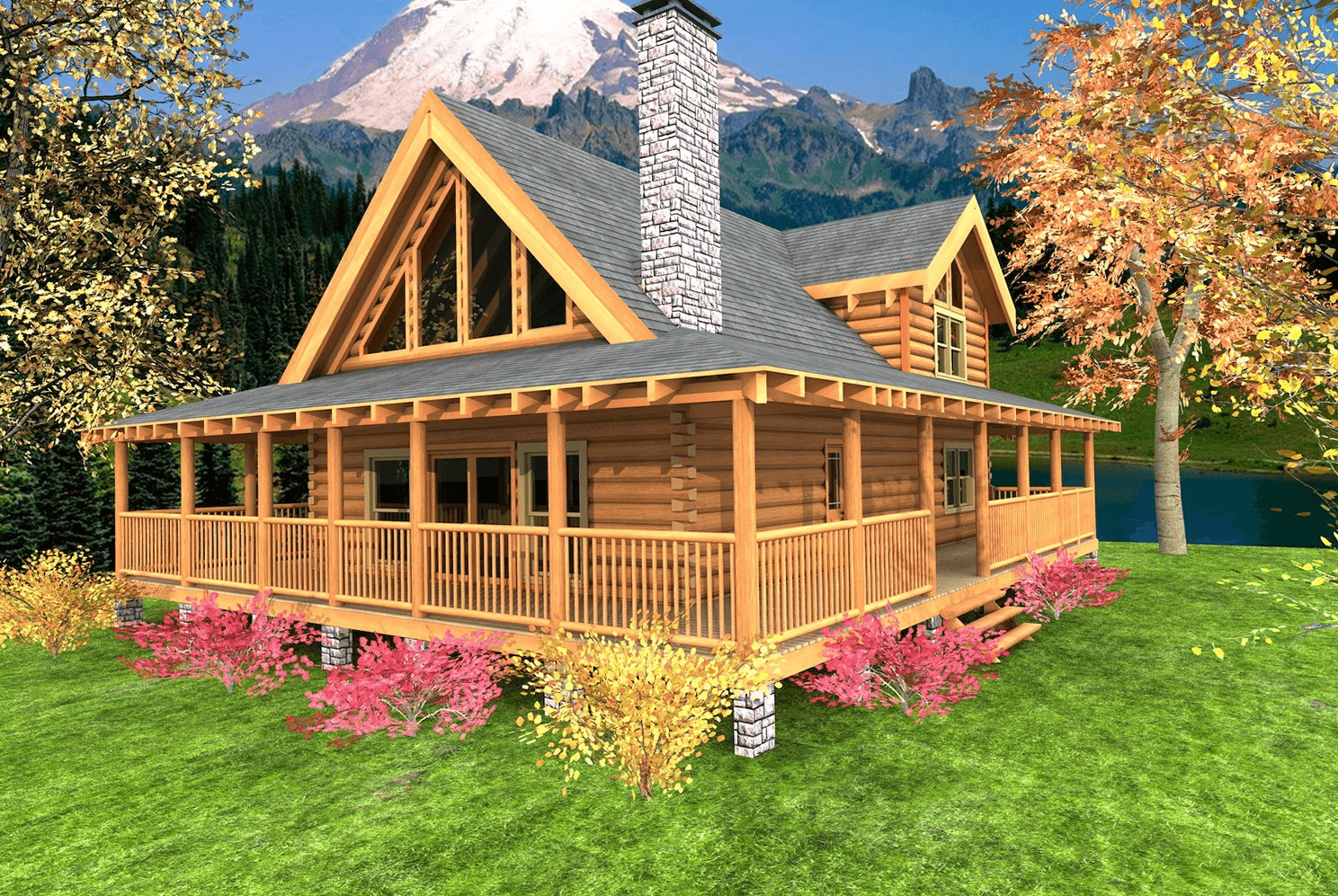 Wrap around porch house plans for small modular home