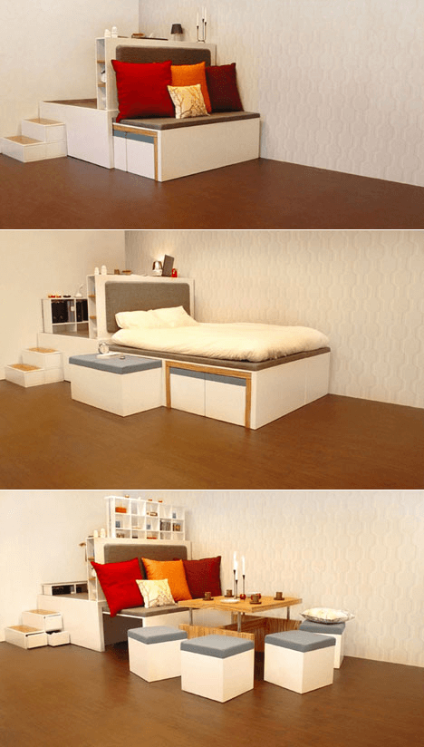 Compact furniture design tiny homes