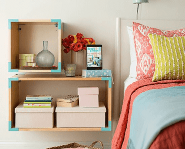 DIY Floating Shelves bedroom small spaces