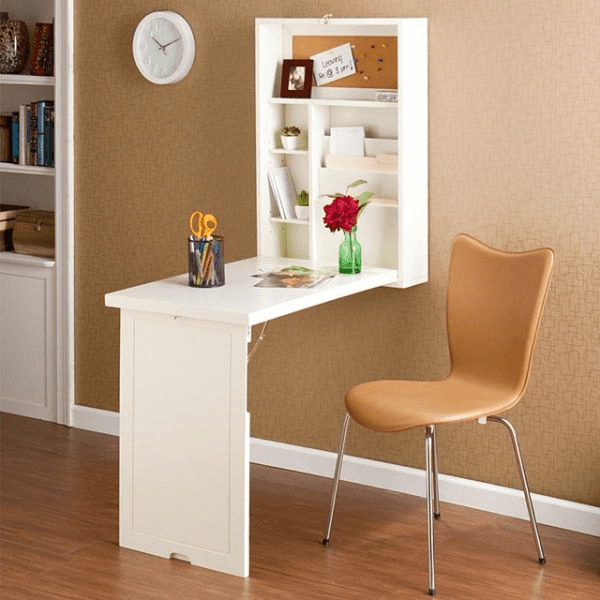 Foldable table wall space saving