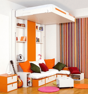 Multifunctional furniture small spaces living room