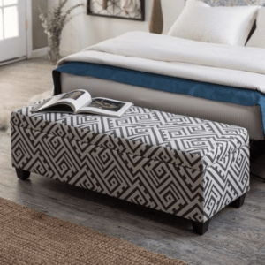 Ottoman storage bedroom benches small spaces