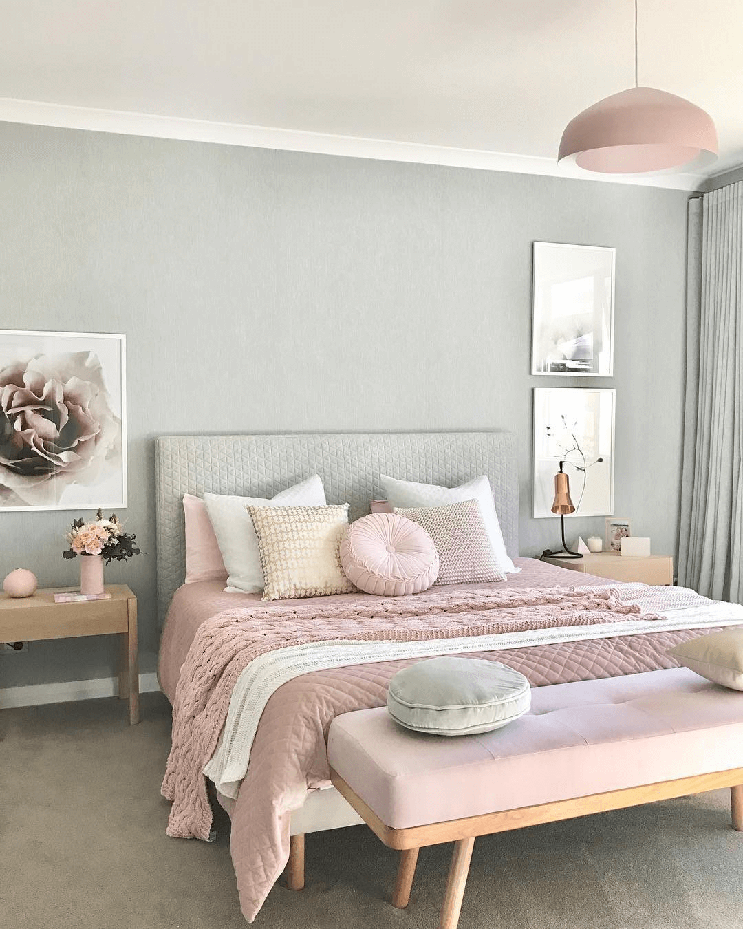 Pastel color bedroom colour palettes for couples
