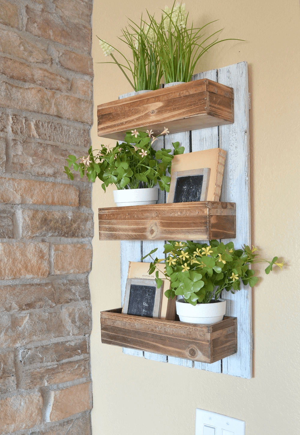 Plant box diy and flower hanger front porch decorating ideas