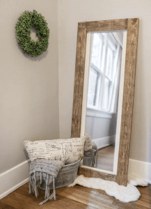 Rustic DIY mirror bedroom decor small space