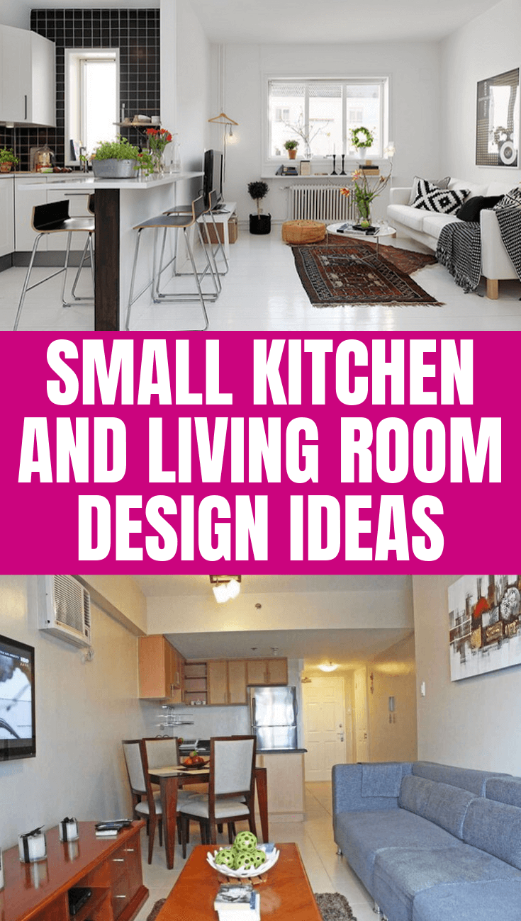 SMALL KITCHEN AND LIVING ROOM DESIGN IDEAS
