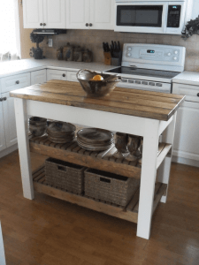 Small kitchen work island