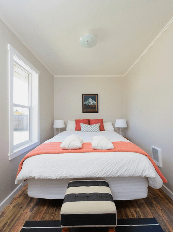 Fluttering Tiny Bedroom Ideas For Couples Small House Tips