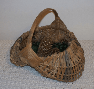 Wicker basket decor porches with pinecone crafts for rustic decor ideas