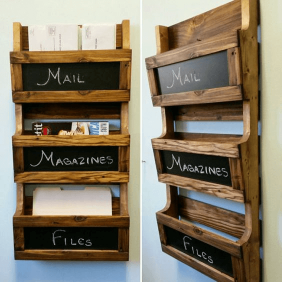 Wooden craft rustic office organizing diy