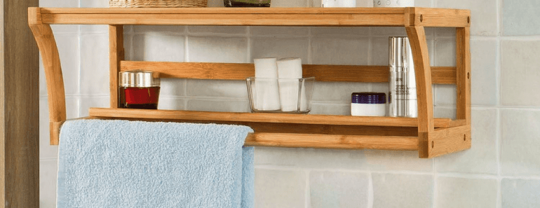 Wooden towel holder bathroom small spaces