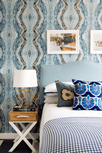 Bold Print Wallpaper for Bedroom Small Space