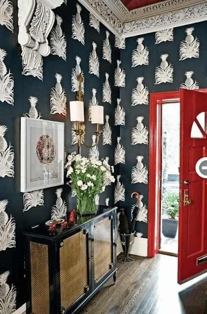 Bold Print Wallpaper for Entrance