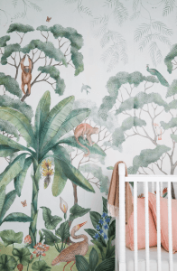 Bold Print Wallpaper for Small Kids Room