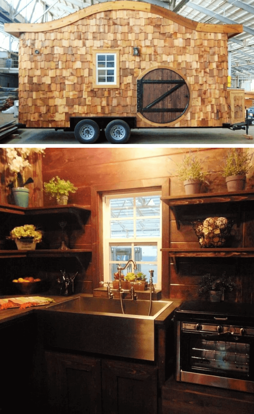 Hobbit Tiny House on Wheels design ideas by Tennessee-based Incredible Tiny Homes