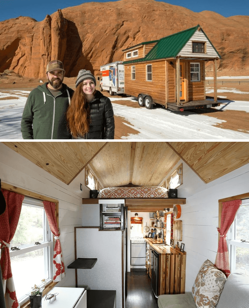 Tiny house on wheels design ideas by Alexis Stephens and Christian Parsons