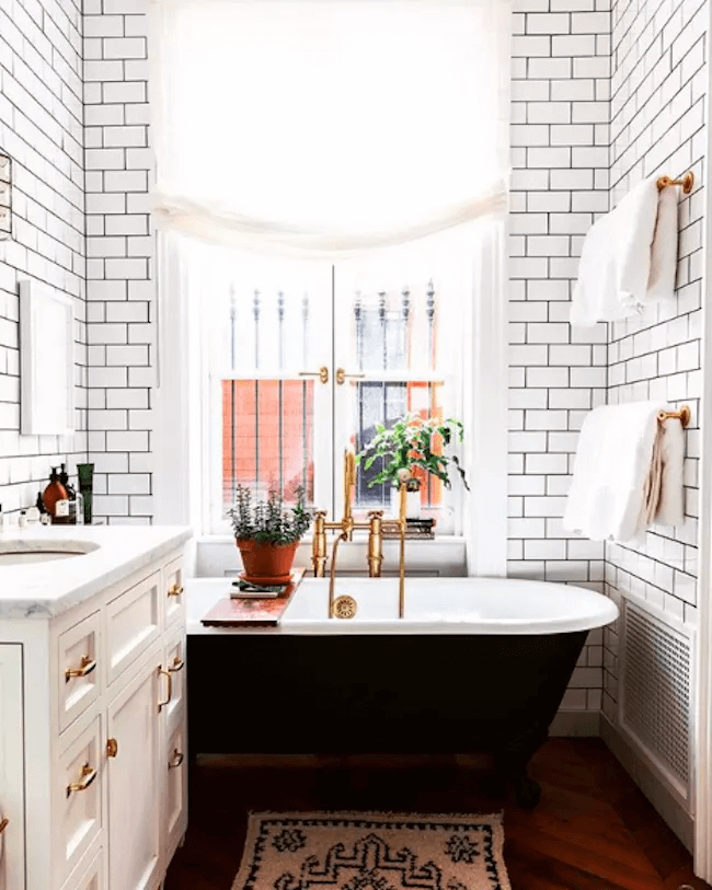 Grout Lines small bathroom tile design