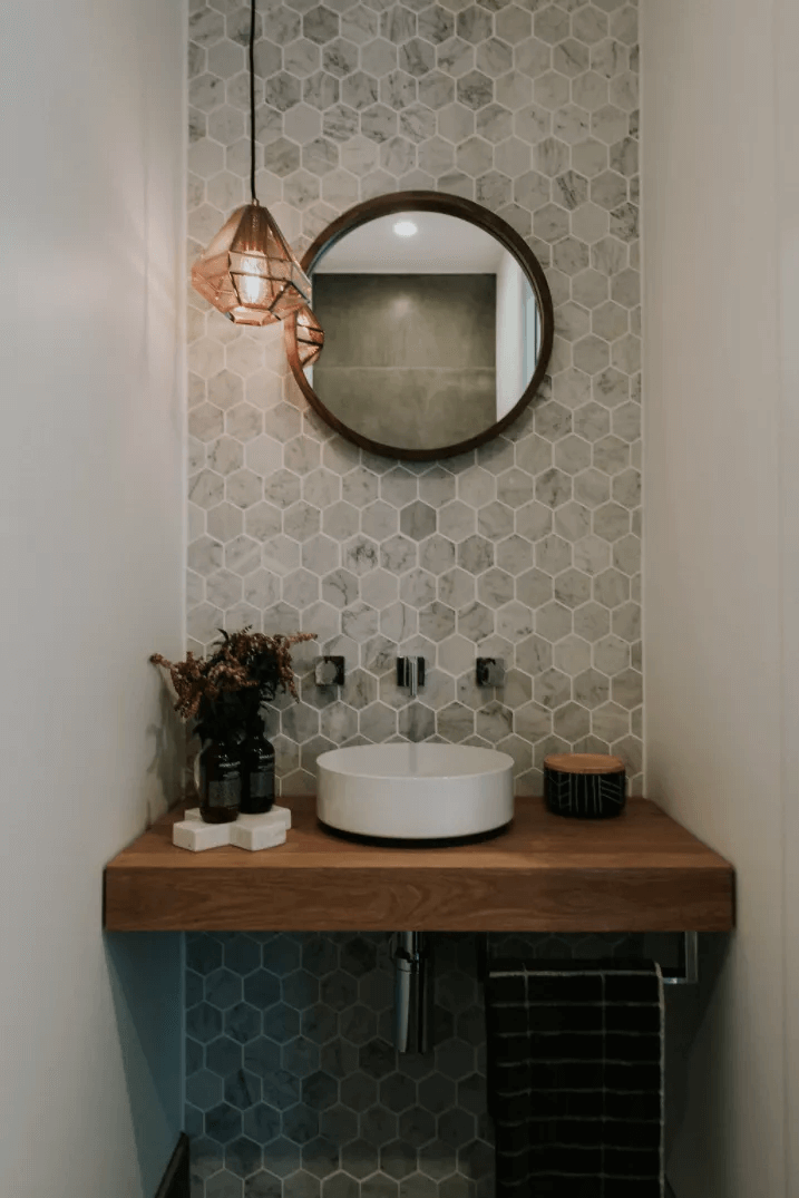 Mosaic Tile Bathroom Small Space