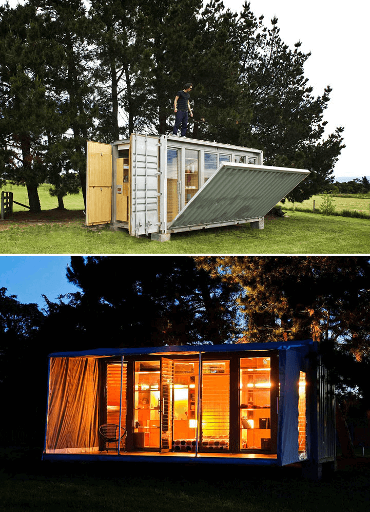 Port a Bach Shipping Container Home Design Ideas