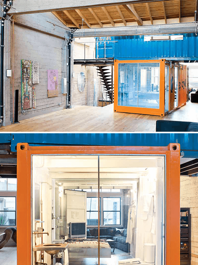 SAN FRANCISCO SHIPPING CONTAINER OFFICE & GUEST BEDROOM
