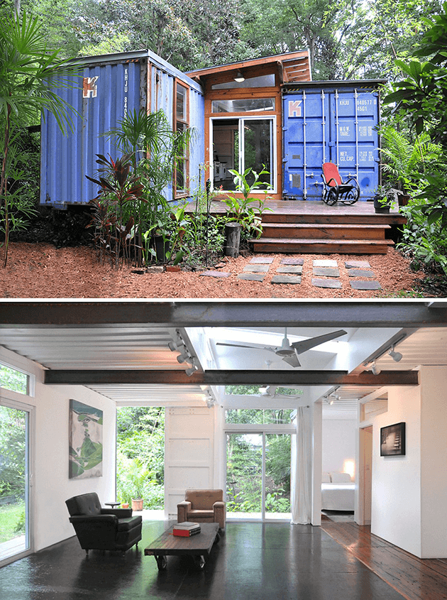 SAVANNAH WOODS SHIPPING CONTAINER DWELLING