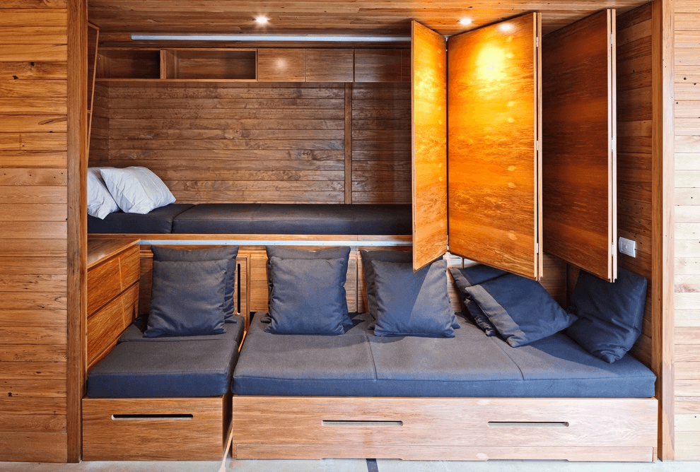 3. HIDDEN BED TINY HOUSE BEDROOM DESIGN IDEAS