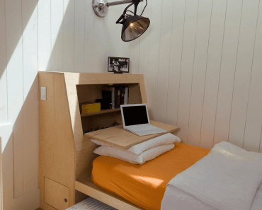 9. MULTI PURPOSE HEADBOARD TINY HOUSE BEDROOM DESIGN IDEAS