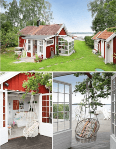 MINI GARDEN PORCH TINY HOUSE DESIGN WITH SWING AND SMALL FLOWER POT