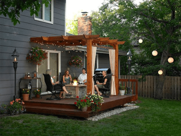Open-Spaced Living Room TINY HOUSE BACK PORCH DESIGN IDEAS
