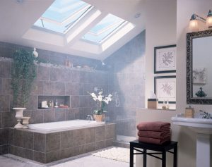 BATHROOM REMODEL IDEAS WITH SKYLIGHTS