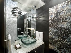 BLACK WALL COLOR IDEAS FOR BATHROOM SMALL SPACE