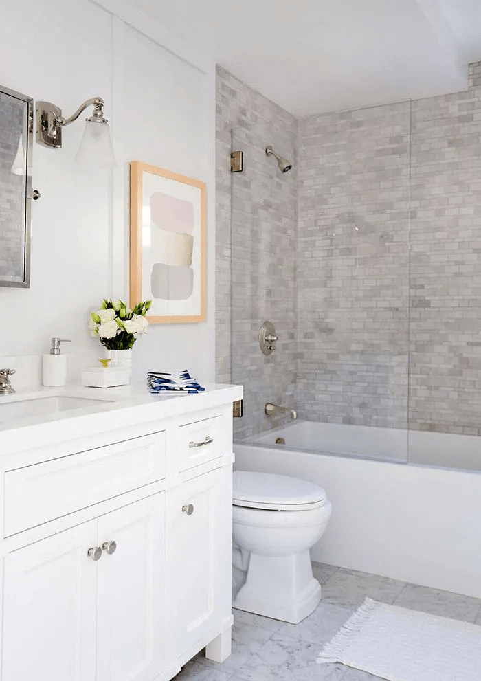 GRAY WALL COLOR FOR SMALL BATHROOM IDEAS