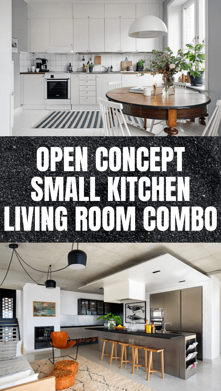 OPEN CONCEPT SMALL KITCHEN LIVING ROOM COMBO